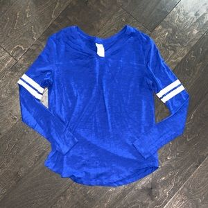 VS PINK royal blue t shirt with v neck size S